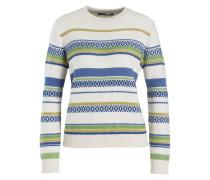 Pullover ARCA - creme/ blau/ gruen