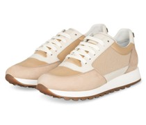 Sneaker mit Paillettenbesatz