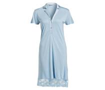 Nachthemd AIRY BLOOMS - blau