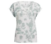 T-Shirt - offwhite/ türkis