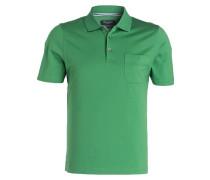 Jersey-Poloshirt - grün
