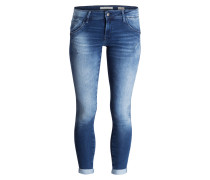 7/8-Jeans LEXY - mid brushed glam