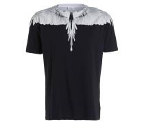 T-Shirt DOUBLE WING - schwarz/ weiss