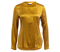 Blusenshirt mit Seidenanteil - gold
