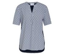 Blusenshirt mit Seide im Materialmix