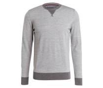 Pullover LUXURY - grau/ dunkelgrau meliert