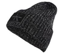 Mütze - schwarz/ weiss meliert