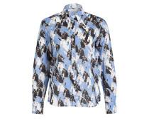 Bluse Comfort Fit - blau/ schwarz/ weiss