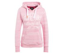 Hoodie - pink/ rosa meliert