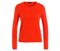 Cashmere/Seide-Pullover - orangerot
