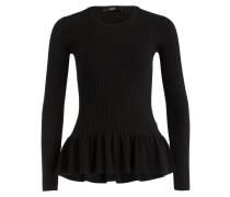 Pullover mit Schösschen - schwarz