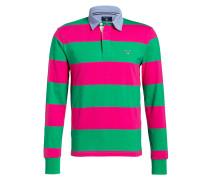 Rugby-Shirt - pink/ grün gestreift