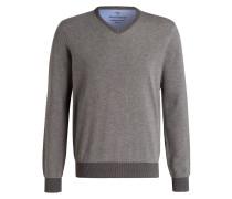 Pullover - khaki meliert