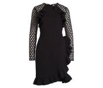 Kleid mit Spitzenärmeln - schwarz