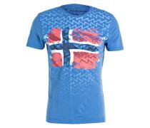 T-Shirt SELO - hellblau meliert