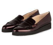 Plateau-Loafer aus Lackleder