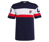 T-Shirt - dunkelblau/ weiss/ rot