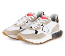 Plateau-Sneaker LEO - WEISS/ BEIGE