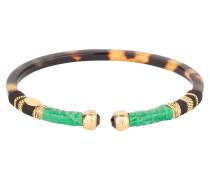 Armreif SARI - braun/ grün/ gold