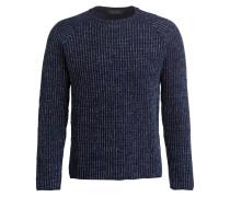 Grobstrick-Pullover - dunkelblau meliert