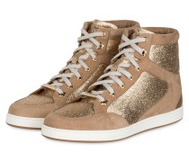 Hightop-Sneaker TOKYO - taupe/ gold