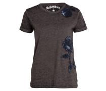 T-Shirt - schwarz meliert