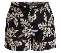 Seiden-Shorts - schwarz/ ecru
