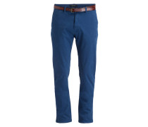 Chino STUART Regular-Slim-Fit - blau