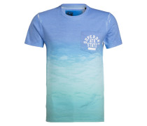 T-Shirt HUNINGTON - blau/ mint