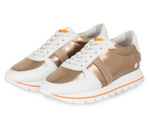 Plateau-Sneaker GROOVE - WEISS/ GOLD