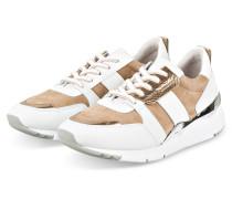 Plateau-Sneaker SPEED - WEISS/ HELLBRAUN