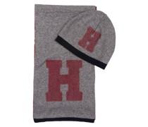 Set: Schal und Mütze - grau meliert