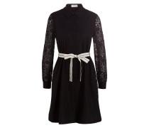 Kleid ROSSO mit Spitzenbesatz - schwarz