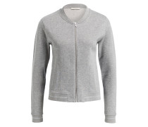 Sweatblouson - grau metallic