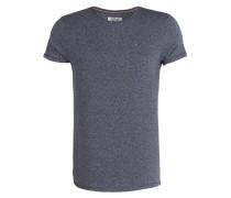 T-Shirt - navy/ grau