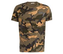 T-Shirt - dunkelgrün/ bronze/ khaki