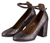 Pumps - grau metallic