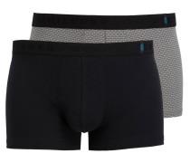 2er-Pack Boxershorts - schwarz/ grau
