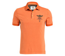 Jersey-Poloshirt - orange