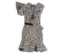 One-Shoulder-Kleid - schwarz/ weiss