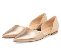 Ballerinas - GOLD/ CREME