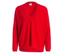 Pullover mit Cashmere-Anteil - rot