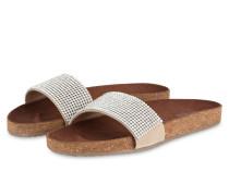 Sandalen mit Schmucksteinbesatz