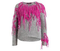 Pullover - grau/ pink