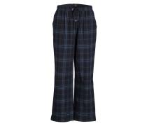 Pyjamahose - anthra/ blau kariert