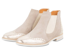 Chelsea-Boots - taupe/ gold