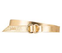 Ledergürtel - gold metallic
