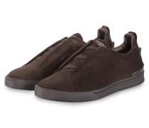 Slip-on-Sneaker TRIPLE X - dunkelbraun