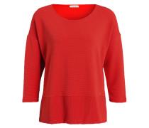 Sweatshirt mit 3/4-Arm - orangerot
