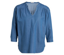 Bluse in Denim-Optik - blau